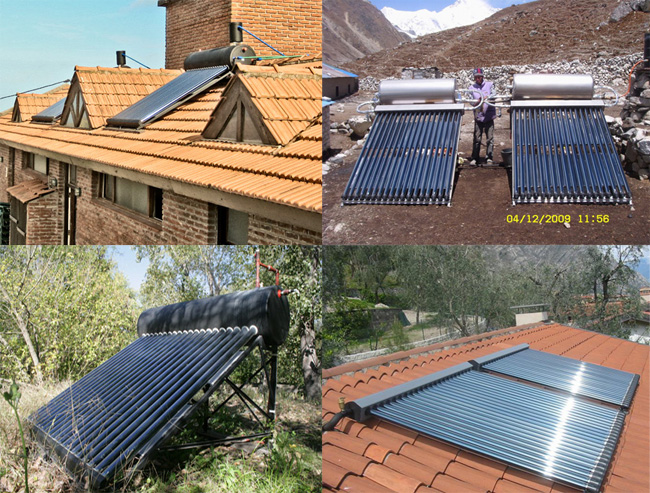 Ejemplos de instalaciones Sobre techos o sobre el terreno (Fotos 5,6,7,8)